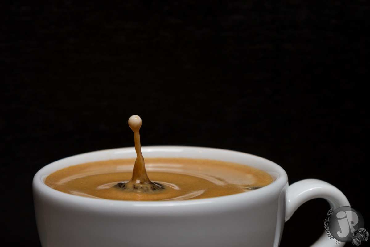 Kaffee-Tropfen Shooting
